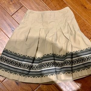 Ann Taylor Fit-And-Flare Patterned Skirt